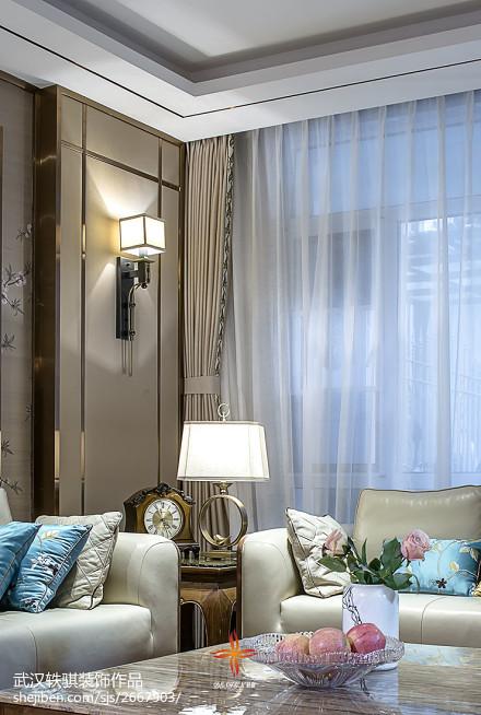 2018面积123平别墅客厅中式装修效果图片欣赏客厅