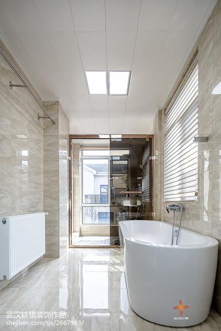 精选中式别墅卫生间装修实景图卫生间1图