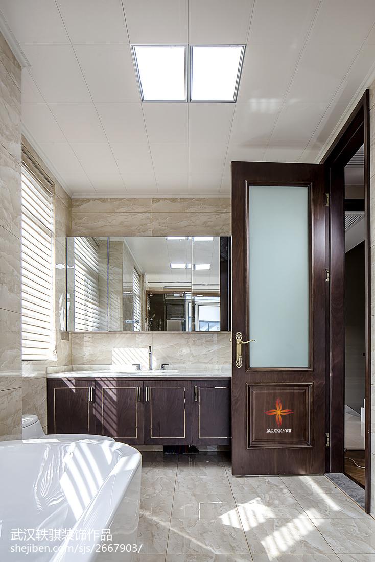 精美面积126平别墅卫生间中式实景图卫生间马桶中式现代卫生间设计图片赏析