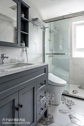 147㎡优雅简美风卫浴设计图片卫生间美式经典设计图片赏析