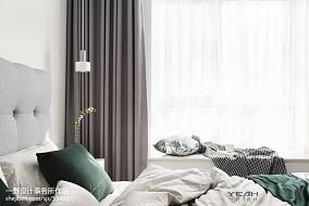热门97平方三居卧室北欧装饰图