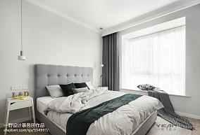 99平米三居卧室北欧装修设计效果图