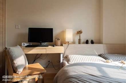 2018精选98平米三居卧室日式装修实景图片