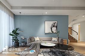精选138平米北欧复式客厅效果图片大全复式北欧极简家装装修案例效果图