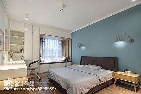 热门面积142平复式卧室北欧装修图复式北欧极简家装装修案例效果图