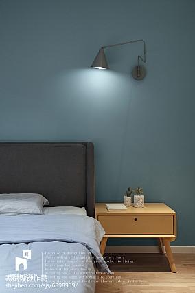 热门114平米北欧复式卧室实景图片大全复式北欧极简家装装修案例效果图