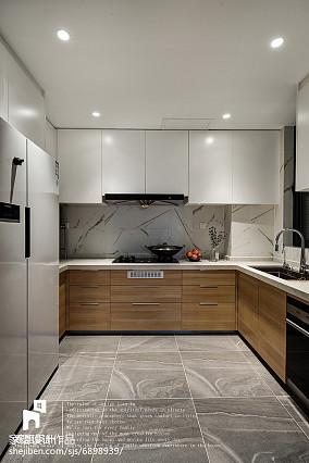 2018精选110平米北欧复式厨房装修图复式北欧极简家装装修案例效果图