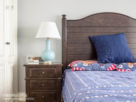 大小92平美式三居卧室装修设计效果图片大全卧室