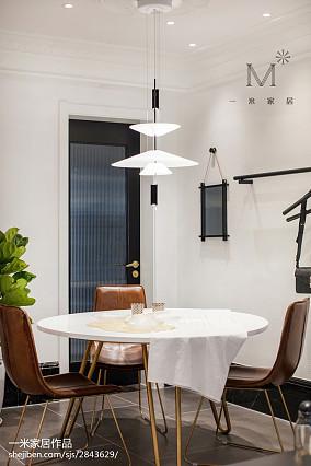 热门面积85平北欧二居餐厅装修设计效果图二居北欧极简家装装修案例效果图