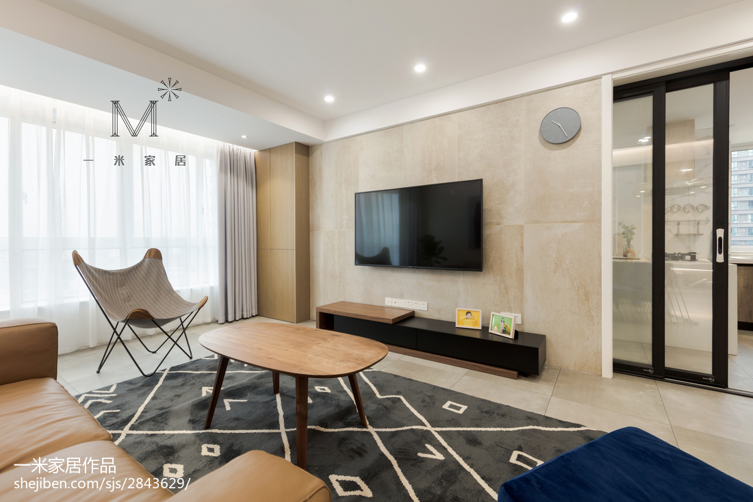 现代简约三居背景墙设计图客厅现代简约客厅设计图片赏析