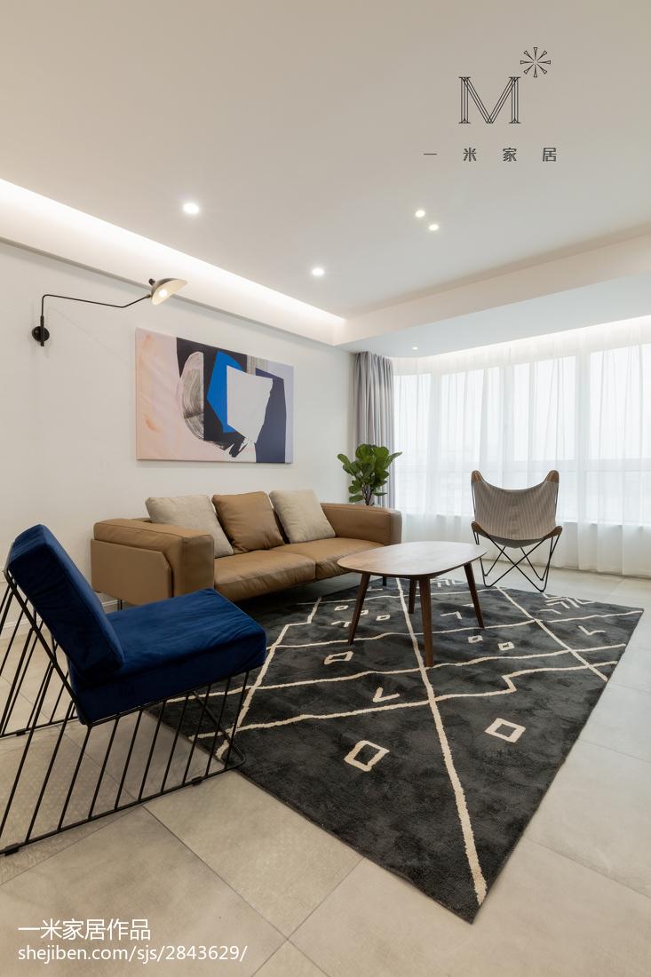 精选大小98平现代三居客厅效果图片欣赏客厅