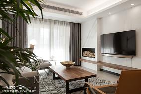 热门四居客厅北欧装修效果图片大全四居及以上北欧极简家装装修案例效果图