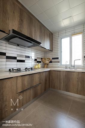 精选北欧四居厨房装修实景图四居及以上北欧极简家装装修案例效果图