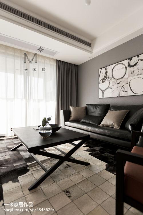 悠雅82平现代三居装饰图客厅窗帘