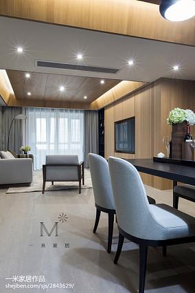 典雅155平现代四居效果图欣赏四居及以上现代简约家装装修案例效果图