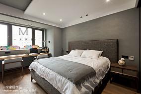 平米四居卧室现代实景图片大全四居及以上现代简约家装装修案例效果图