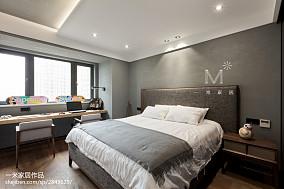 平米四居卧室现代装修效果图片大全四居及以上现代简约家装装修案例效果图