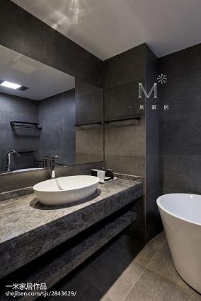 热门现代四居卫生间效果图家装装修案例效果图