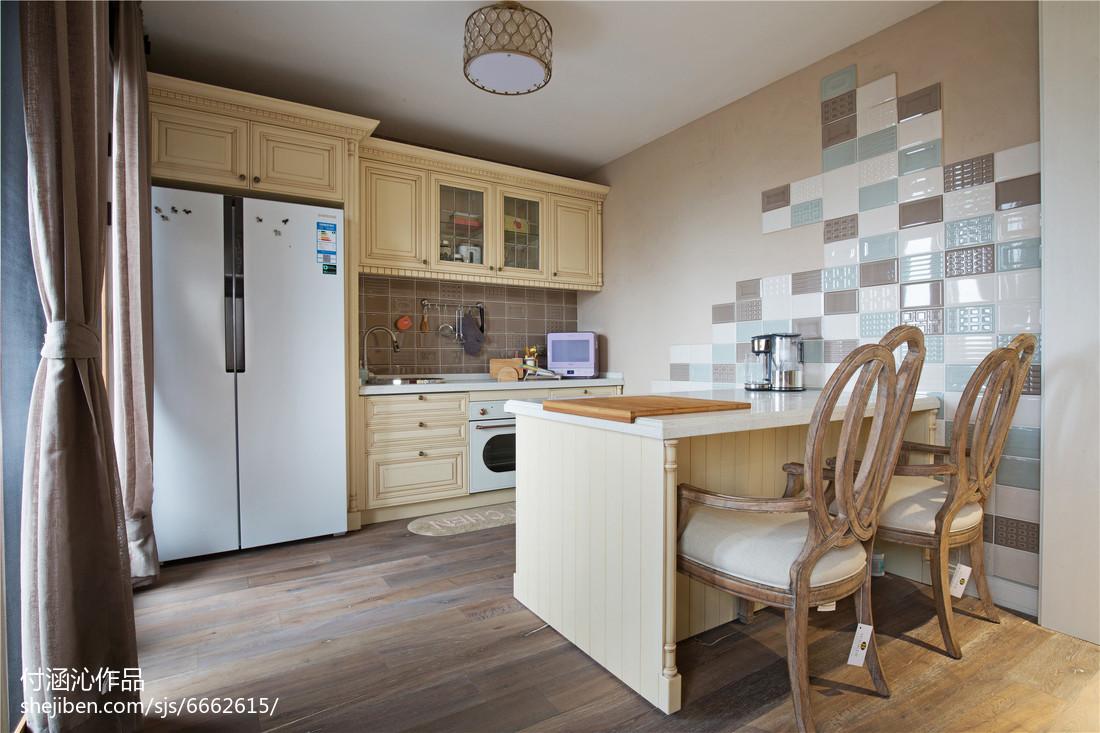 精美120平米美式复式厨房装修效果图片欣赏餐厅美式经典厨房设计图片赏析