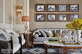 平欧式样板间客厅实景图样板间欧式豪华家装装修案例效果图