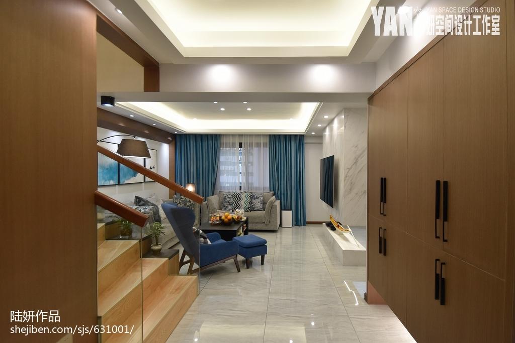 简洁42平现代复式客厅设计美图客厅