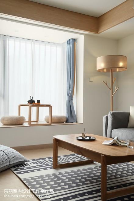 日式三居休闲区设计实景图片功能区