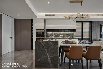 精选大小95平现代三居餐厅装修效果图片欣赏厨房