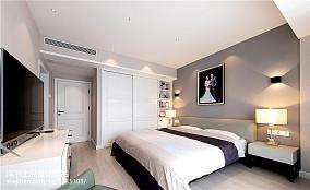 精选100平米三居卧室现代效果图