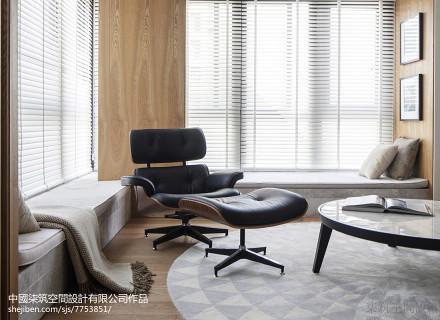 轻奢110平现代二居客厅图片大全二居现代简约家装装修案例效果图
