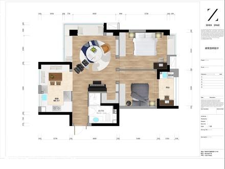 华丽66平现代二居客厅美图