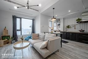 精美面积75平小户型客厅北欧装修效果图片
