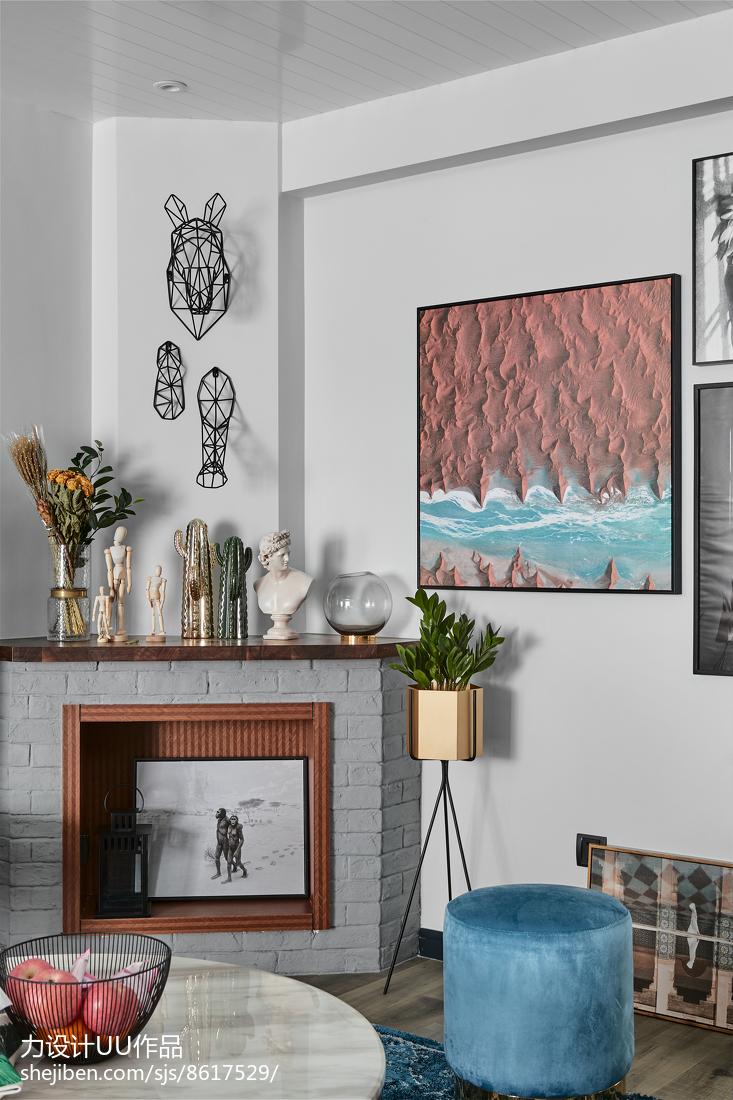 2018精选105平客厅三居混搭装修设计效果图片大全客厅