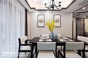 2018精选面积105平中式三居餐厅装修设计效果图