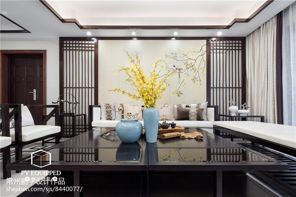 面积105平中式三居客厅实景图客厅