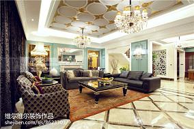 精美124平米新古典别墅客厅效果图
