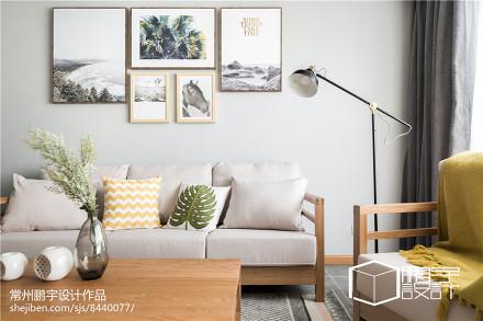 精选78平米二居客厅日式装修欣赏图片二居日式家装装修案例效果图