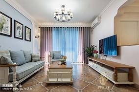 面积85平美式二居客厅装修图片
