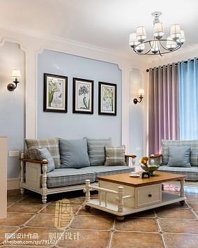 2018精选87平米二居客厅美式装修实景图片欣赏