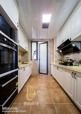 201880平米二居厨房美式装修效果图片欣赏