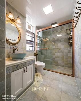 简约美式风卫浴设计图卫生间美式经典设计图片赏析