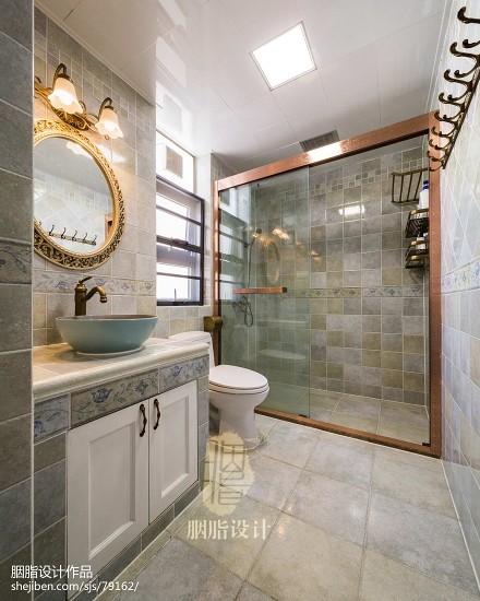简约美式风卫浴设计图卫生间