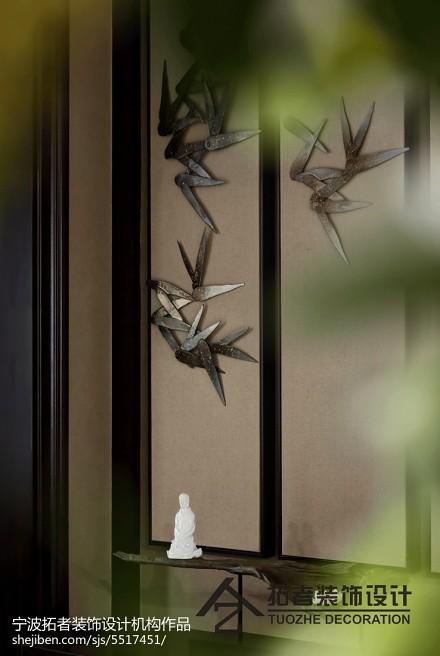 精选面积111平中式四居玄关装修欣赏图片玄关