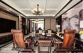 2018精选131平方四居客厅中式效果图四居及以上中式现代家装装修案例效果图