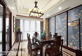 热门大小126平中式四居餐厅欣赏图片大全四居及以上中式现代家装装修案例效果图