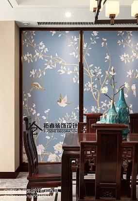 2018面积118平中式四居餐厅装饰图片欣赏四居及以上中式现代家装装修案例效果图