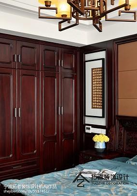 平米四居卧室中式欣赏图片四居及以上中式现代家装装修案例效果图