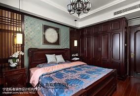 四居卧室中式装修实景图片大全四居及以上中式现代家装装修案例效果图
