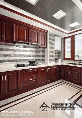 精选面积123平中式四居厨房装修欣赏图片四居及以上中式现代家装装修案例效果图