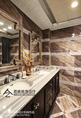 四居卫生间中式装修效果图片欣赏四居及以上中式现代家装装修案例效果图