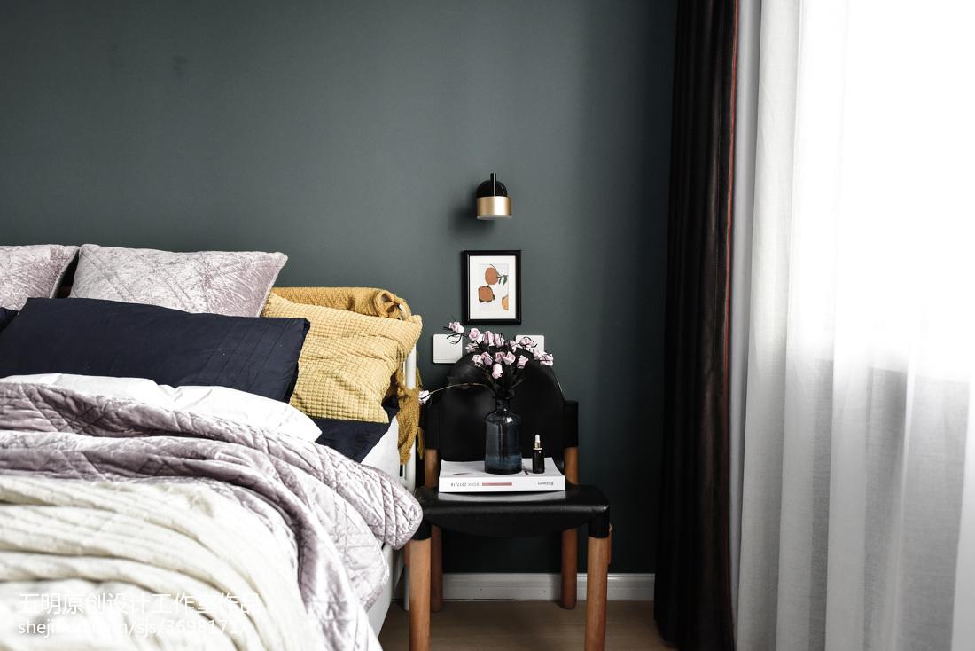 2018精选80平米混搭小户型卧室效果图卧室潮流混搭卧室设计图片赏析